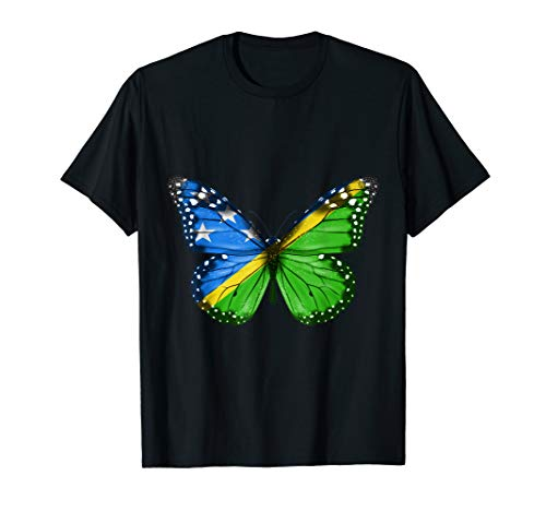 - Butterfly Flag Of Solomon Islands Shirt