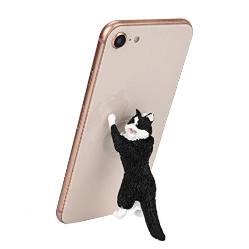 Cute Cat Phone Holder, SUKEQ Novelty Cartoon Cat Phone Sucke