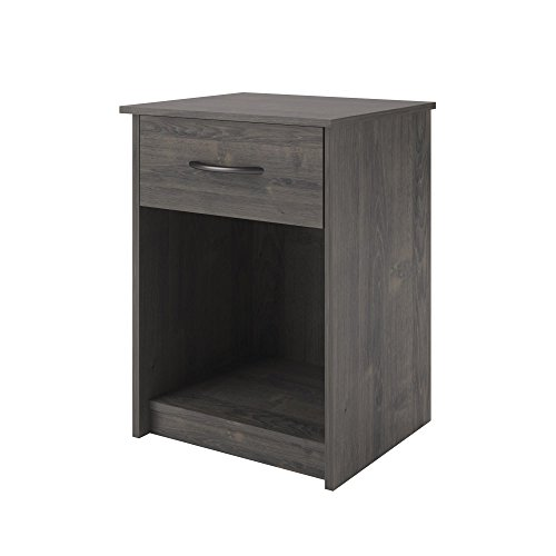 Ameriwood Home Core Night Stand, Dark Gray Oak - Maple Contemporary Night Table