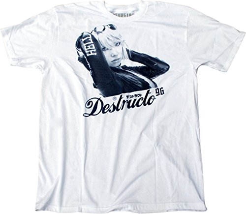 Destructo T-Shirt: Racer [Small] White Destructo Short Sleeve T-shirt