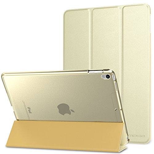 MoKo Case Fit iPad Pro 10.5 2017 - Slim Lightweight Smart Shell Stand Cover with Translucent Frosted Back Protector Fit Apple iPad Pro 10.5 Inch 2017, Champagne Gold (Auto Wake/Sleep)
