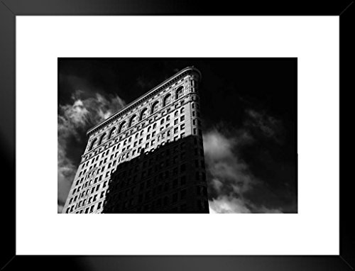 (Poster Foundry Morning Sunrise on Manhattans Flatiron Building New York City NYC Photo Art Print Matted Framed Wall Art 26x20 inch)