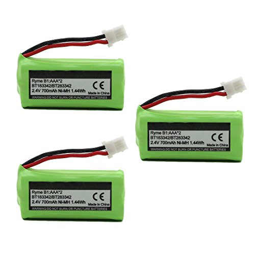 BT183342 BT162342 BT166342 BT262342 BT283342 BT266342 Replacement Battery Pack for Vtech Cordless Phone CS6114 CS6719 CS6124 CS6649 DS6151 AT&T CL4940 EL52300 Handset (3-Pack) from Mr.Batt