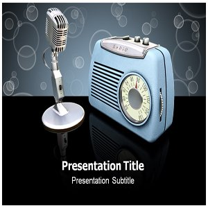 Amazon com: Radio Powerpoint Templates - Radio Powerpoint