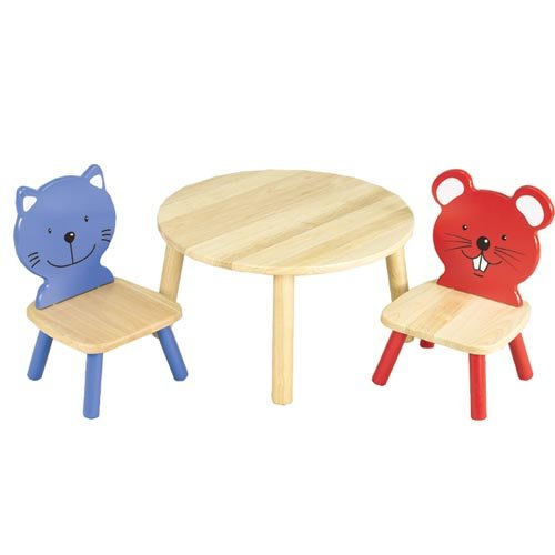 Table and Animal Chairs Set by Unknown