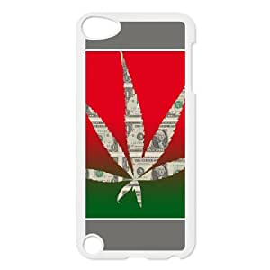 Exquisite stylish phone protection shell Ipod Touch 5 Cell phone case for Marijuana Leaf Cannabis grass rasta pattern personality design
