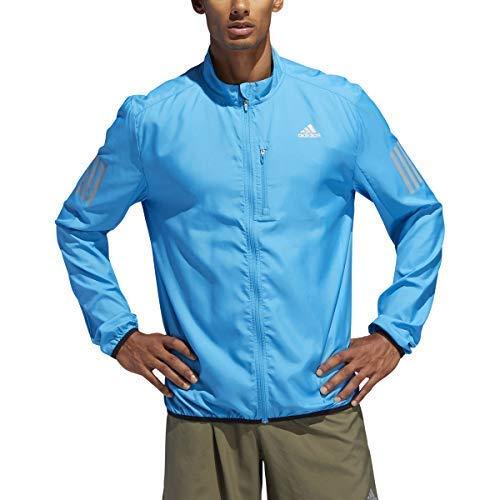 adidas Men's Own The Run Jacket, Medium, Shock Cyan adidas performance -hardgoods/accessories - Child Code S19080611