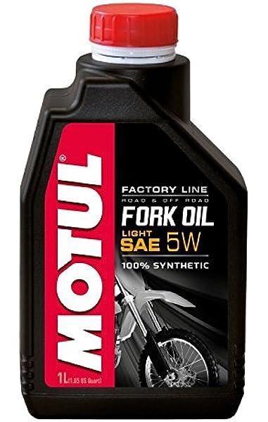 MOTUL Fork Oil Factory Line Light 5W 1L: Amazon.es: Coche y moto
