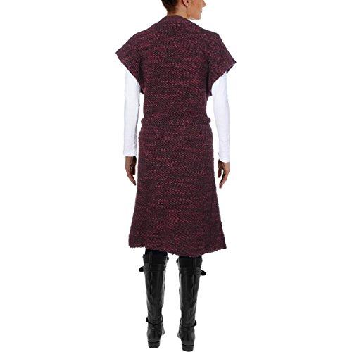 ALICE+OLIVIA Womens Knit Kimono Wrap AUGUSTINA Sweater Coat Merlot 230104F (Medium) by alice + olivia (Image #1)