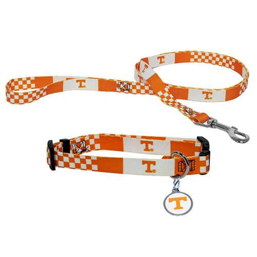 Hunter Manufacturing HUN-4100-44-1300 Tennessee Volunteers NCAA Dog Collar & Leash Set