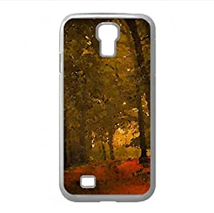 Autumn Day In The Forest Watercolor style Cover Samsung Galaxy S4 I9500 Case (Autumn Watercolor style Cover Samsung Galaxy S4 I9500 Case)