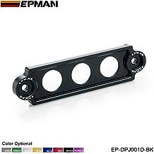 EPMAN Aluminium Jdm Style Battery Tie Down For Honda Civic / CRX 88-00 , Integra, S2000 (Black)