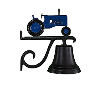 Montague Metal Products Cast Bell With Blue Tractor