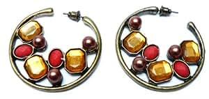 Pendientes Anillos tres perlas - Pendientes para mujer