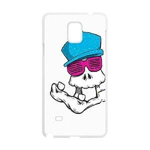Samsung Galaxy Note 4 Cell Phone Case White_SKULLY RETRO Nsunj