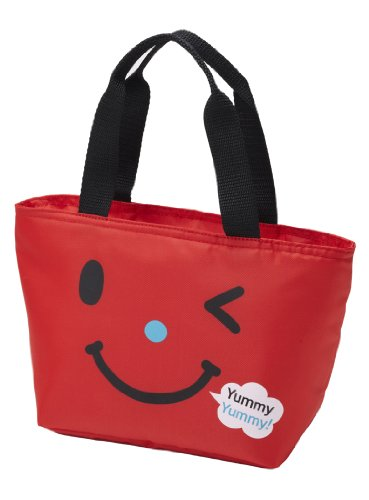 Lunch Smiles - Torune Insulated Lunch Cooler Bag Smile, Red (P-2950)