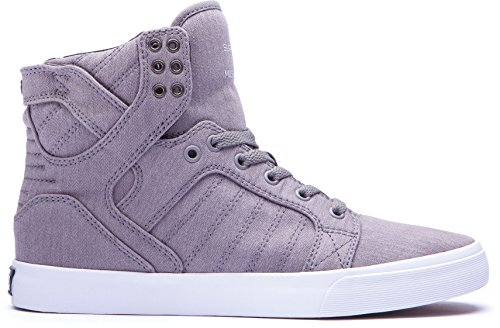 new style d239a 48ca5 Supra SKYTOP Unisex-Erwachsene Hohe Sneakers Greyprint - white