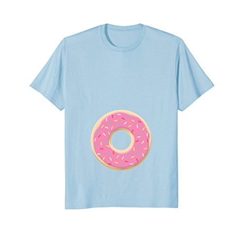 Pink Donut Sprinkle Baby Bump T Shirt Pregnancy Announcement]()
