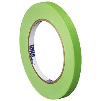 "Tape Logic T931003A Masking Tape, 60 yds Length x 1/4"" Width, Light Green (Case of 144)"