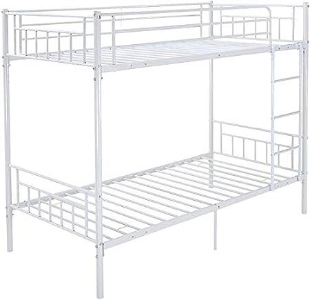 Einzel-Metall-Etagenbett mit 2 Personen Bettrahmen Kinder Doppelschlafzimmerm/öbel,Black