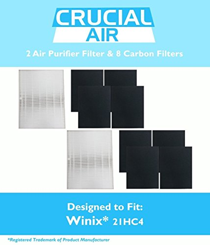 2 Winix-Compatible 115115 Filter + 8 Carbon Filters PlasmaWave - High Quality Filter And Carbon Filters - Designed To Clean And Remove Pollutants From Air - Efficient Air Purifier Filter Replacement