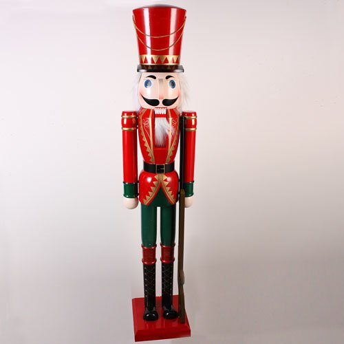 Sterling 5 Foot Giant Red Wooden Soldier Decorative Christmas Nutcracker with R