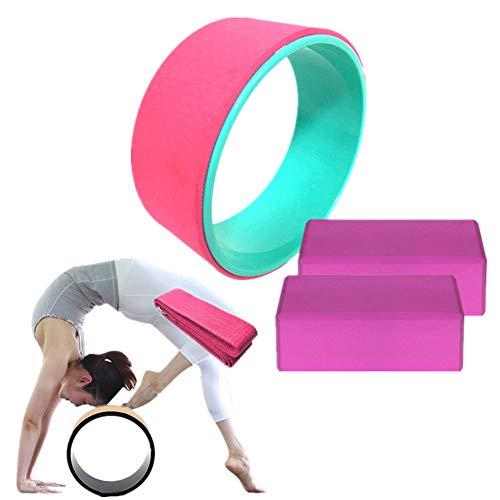 TUANTALL Yogaring Yoga Rad Yoga Prop Wheel für Yoga-Posen Yoga Rad zum Dehnen Yoga Stretching Wheel rutschfest Pilates…