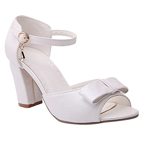 Blanc Des Carol Arcs Haut Peep Femmes Charme Talon Chaussures Sandales Toe Mignon qgdwPXX
