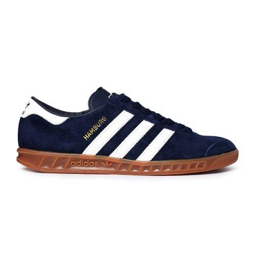 classic fit a3dc5 fc4d6 Adidas Hamburg Classic Mens Shoes NavyWhiteGold Metal D65192 Amazon.ca  Shoes  Handbags