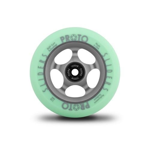 Proto Slider Faded Wheels Faded Pastel Green - 110mm (Pair)