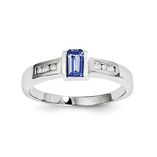 Sterling Silver Tanzanite & Diamond Ring by CoutureJewelers