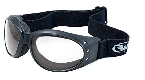 Global Vision Eyewear Eliminator Goggles with Micro-Fiber Pouch, Clear - Micro Balaclava