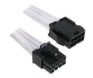 BitFenix 8 Pin EPS12v 45cm - Cable para fuente de alimentación, negro y blanco