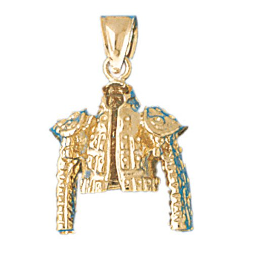 14k Yellow Gold Matador Jacket Pendant by Noble Collections