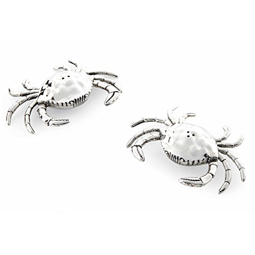 (Mud Pie 4501005 Crab Salt and Pepper Shaker Set,)