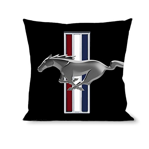 Buckle-Down Throw Pillow-Ford w/Bars Logo Black, Mustang (Throw Mustang Ford)