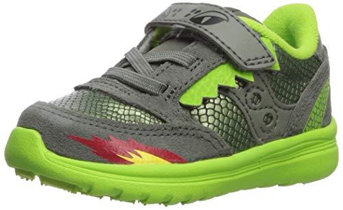 Saucony Boys' Baby Jazz Lite Sneaker Green/Dragon 095 Wide US Toddler