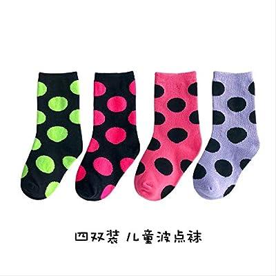 QZHYGE 4 Pares de Calcetines para niños de algodón Primavera y ...