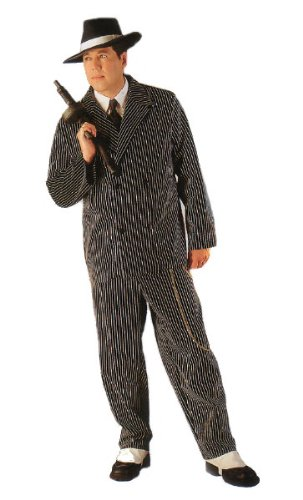 Deluxe Pinstriped Gangster Suit Costume ()