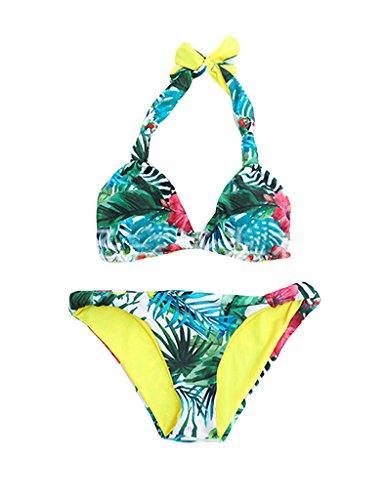 Bestgift Damen Bikinis Bikini Mode Blume Bademode Badeanzüge Multicolor2