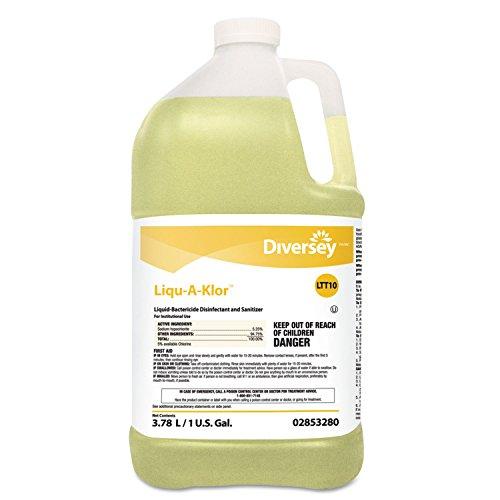 (Diversey 02853280 Liqu-A-Klor Disinfectant/Sanitizer 1 gal Bottle 4/Carton)