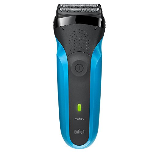 Braun Series 3 310s Electric Razor for Men, Rechargeable and Cordless Electric Shaver, Wet & Dry Foil Shaver, Blue (Braun Shaver Corded)