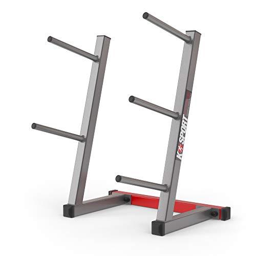 K-Sport: Gewichtsstandaard tot 280 kg belastbaar, houder voor halterschijven met 5 belastingen, trainingsstandaard voor…