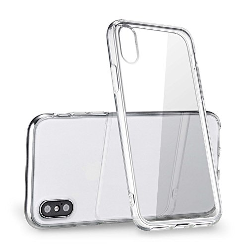 iPhone X Clear Case, [Anti-Discoloration] [Slim] (Crystal - Man Za
