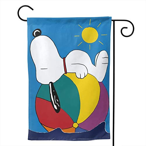 LIUYAN Garden Flag - Snoopy Beach Ball Unique Decorative Double Sided Outdoor Yard Flags for Your Home 12.5