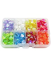 PEPRMROE 320 Pcs Acrylic Heart Beads Small Hole Beads Loose Bead for Jewelry Making Craft Bracelet Necklace Hair Braids