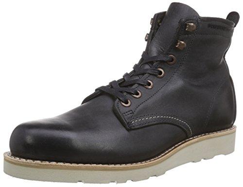 Wolverine Prestwick Black Leather Herren Hohe Sneakers Schwarz (Black)