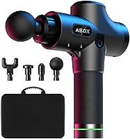 ABOX Muscle Massage Gun, Hand-Held Deep Tissue Muscle Massager, Ultra-Quiet 30 Speeds Optional Modes, Percussion...