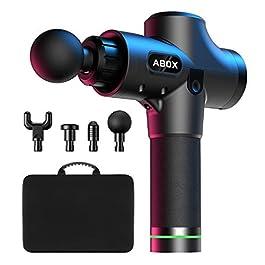 Massage Gun, ABOX Professional Deep Tissue Portable Massager with 30 Speed Levels, Max 3300 RPM Percussion Massage Gun…