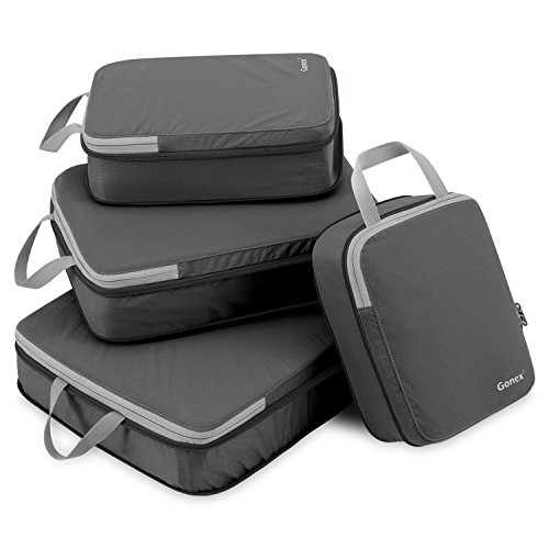 Gonex Compression Packing Cubes, Expandable Packing Organizers 4pcs (Deep Gray) by Gonex (Image #9)